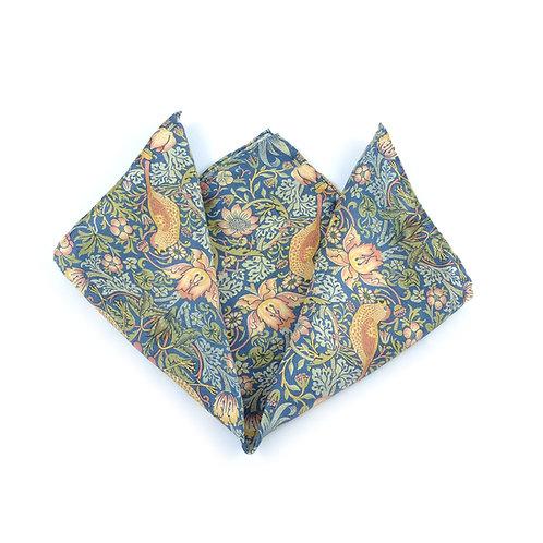 William Morris - Strawberry Thief II Pocket Square
