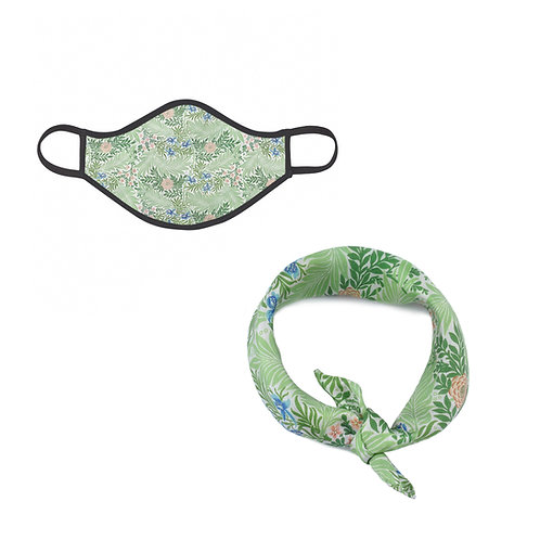 William Morris Larkspur Face Mask & Neckerchief