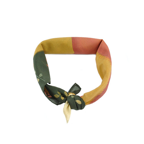 Foxes School Run Silk & Cotton Neckerchief