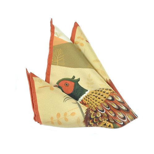 Fabulous Pheasant Pocket Square