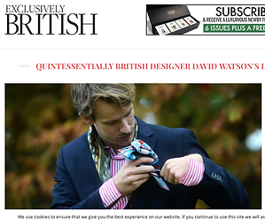 Exclusively British David Watson Sam Petty Silk Press Magazine review pocket square scarf