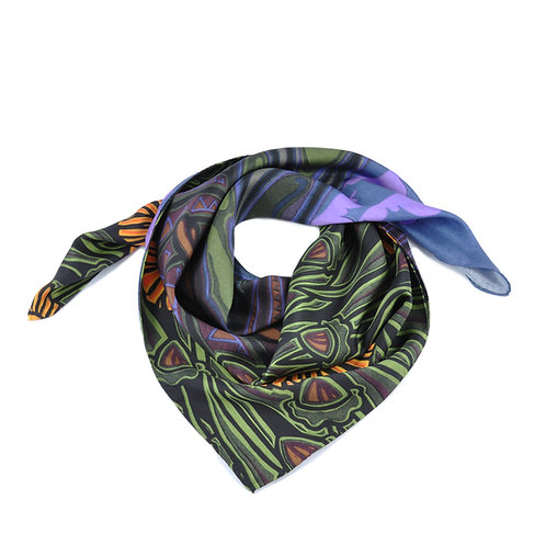 Running Hares Square Scarf