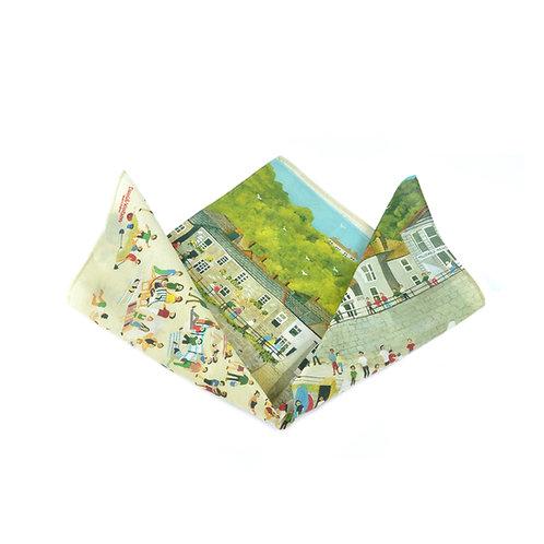 Mousehole Silk & Cotton Pocket Square