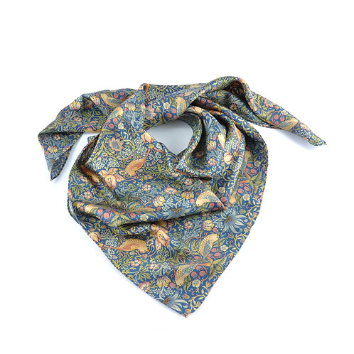 William Morris - Strawberry Thief Square Scarf
