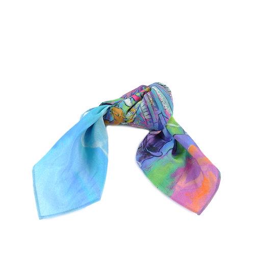 Ascot Colour Silk & Cotton Hair Tie