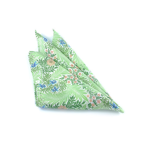 William Morris - Larkspur Pocket Square