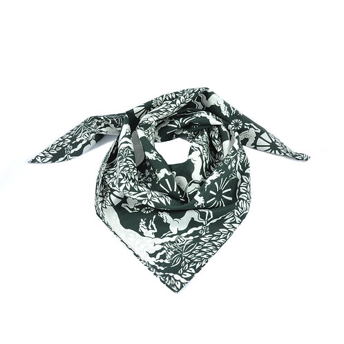 Chace Tapestry Silk & Cotton Scarf