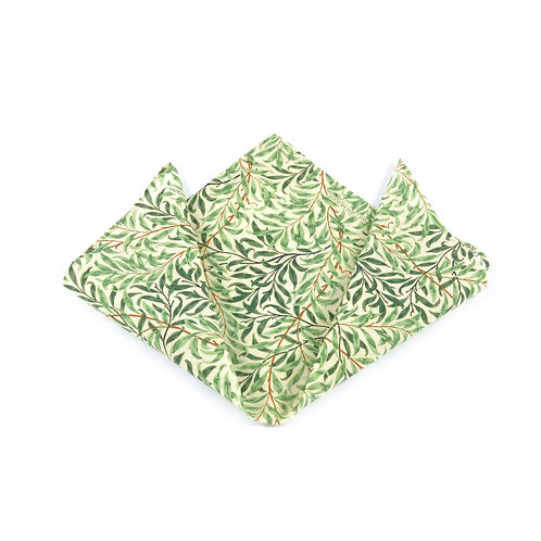 William Morris - Willow Bough Silk & Cotton Pocket Square
