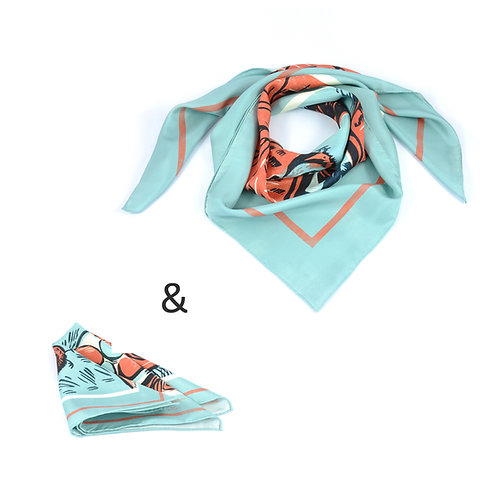 Five Eggs Square Scarf & Pocket Square set