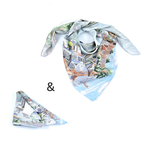 Henley Square Scarf & Pocket Square set