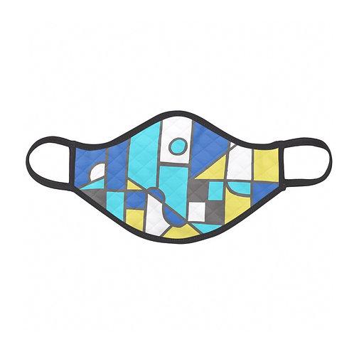 Blue Cubism Face Mask