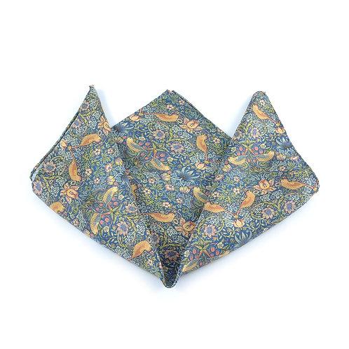 William Morris - Strawberry Thief Pocket Square