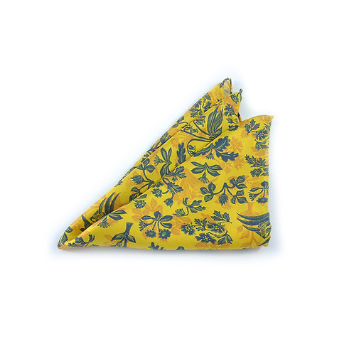 Tapestry Flowers Pocket Square