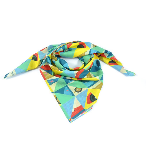 Icons of Speed Silk & Cotton Scarf
