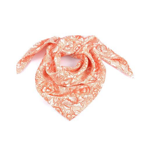 William Morris - Pink & Poppy Square Scarf