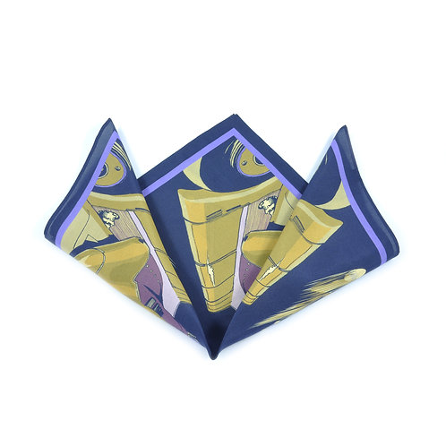 Golden Arrow Silk & Cotton Pocket Square