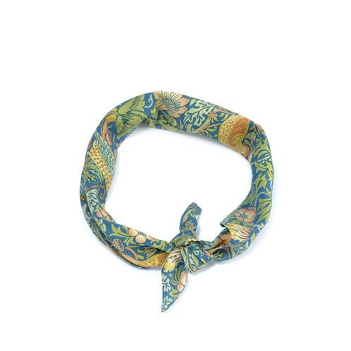 William Morris - Strawberry Thief Silk & Cotton Neckerchief