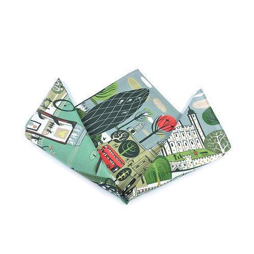 Thames People Silk & Cotton Pocket Square