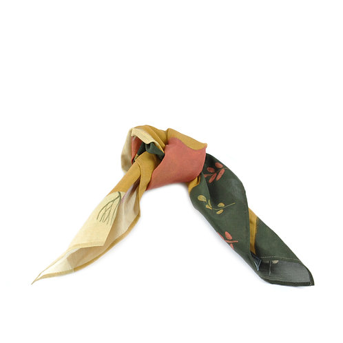 Foxes School Run Silk & Cotton Hair Tie