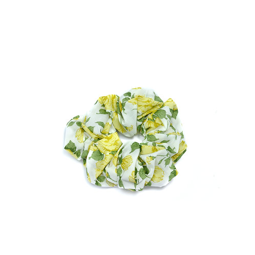 Organic Cotton Liberty Rose Scrunchie