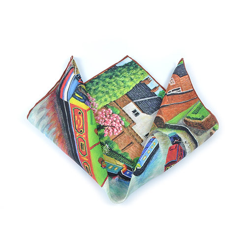 Lymm Canal Pocket Square