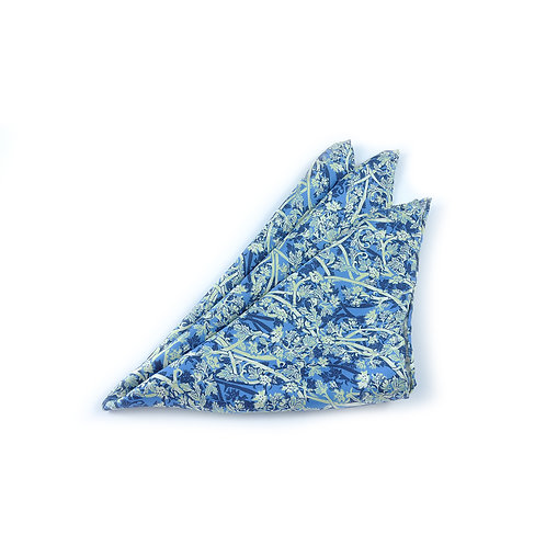 Blue Roses Pocket Square