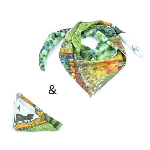 Cotswold Hills Square Scarf & Pocket Square set