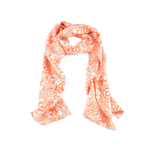 William Morris - Pink & Poppy Long Scarf
