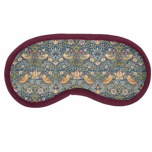 William Morris Strawberry Thief Eye Mask
