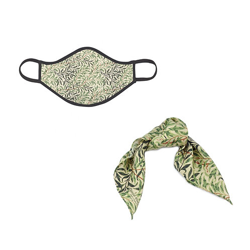 William Morris Willow Bough Face Mask & Hairtie