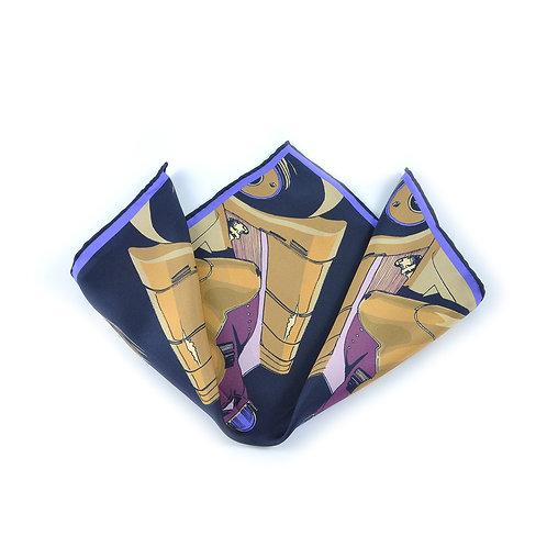 Golden Arrow Pocket Square