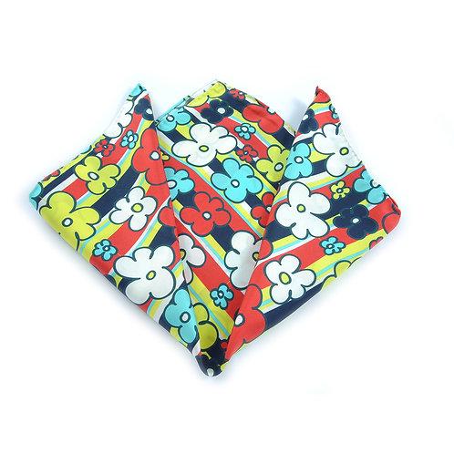 Retro Daisies Pocket Square