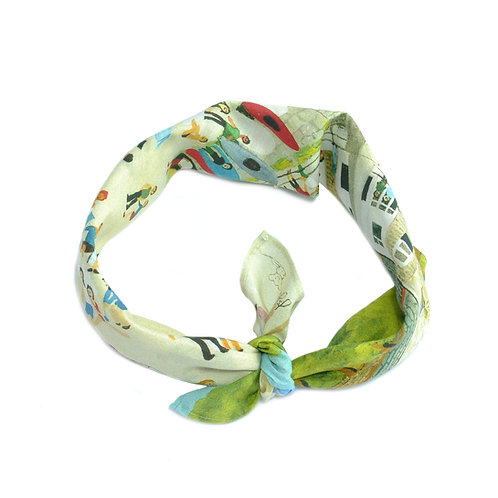 Mousehole Silk & Cotton Neckerchief