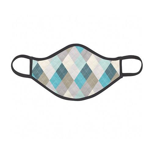 Blue Argyle Face Mask