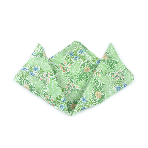 William Morris - Larkspur Silk & Cotton Pocket Square