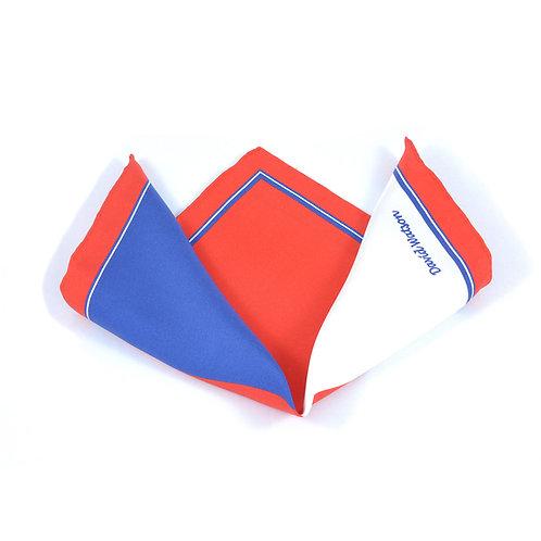 Red Quadrangle Pocket Square