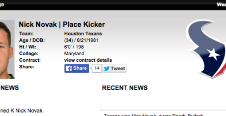 NICK NOVAK SIGNS WITH THE HOUSTON TEXANS!
