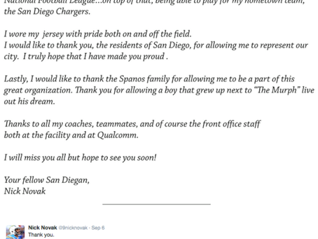 A LETTER FROM NICK NOVAK…