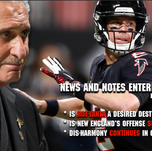 News and Notes Entering Week 6