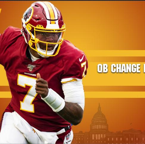 QB Change in Washington