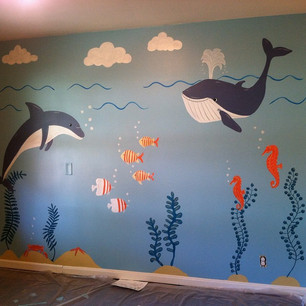 Fun to paint a mural for a friend._#mura