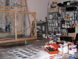 Cleaning up the art studio