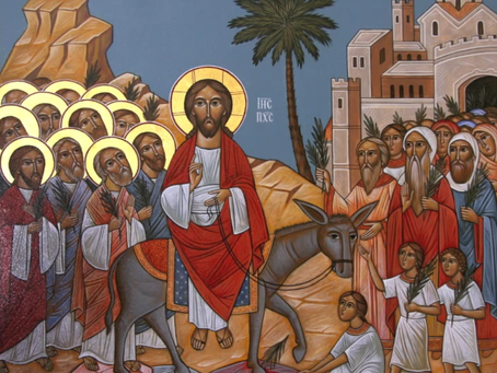 In-person worship 3/28/21 Jesus' Triumphal Entry