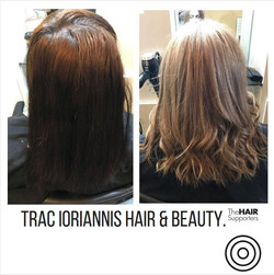 Dark Before & Blonde After