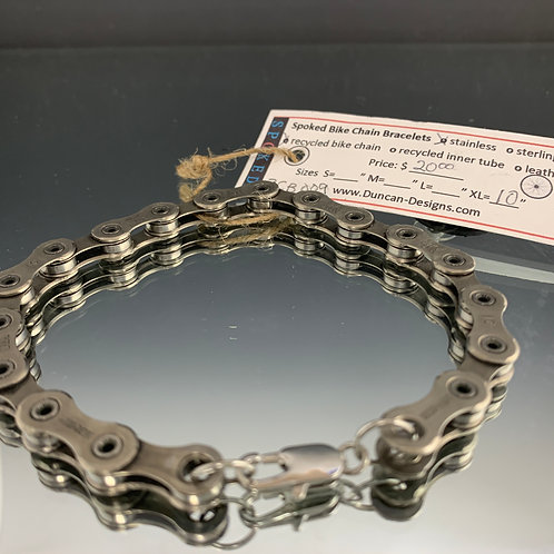 "Unisex 10"": Spoked Bike Chain Bracelet"