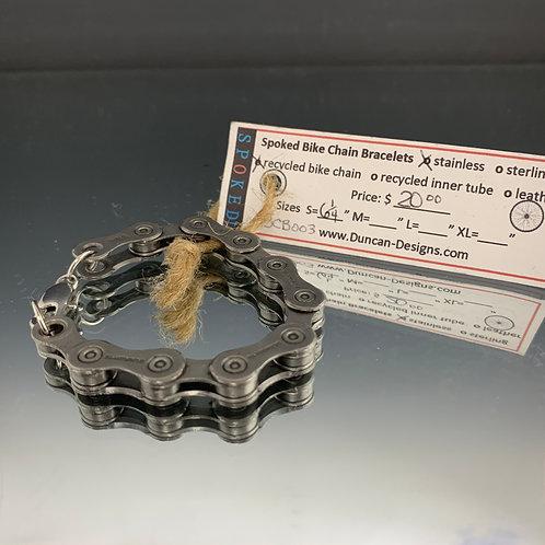 "Unisex 6 1/4"": Spoked Bike Chain Bracelet"