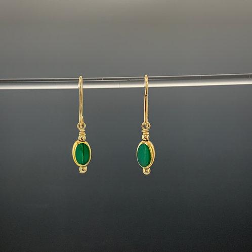 Petite Emerald Oval: 22 K Vintage Bead