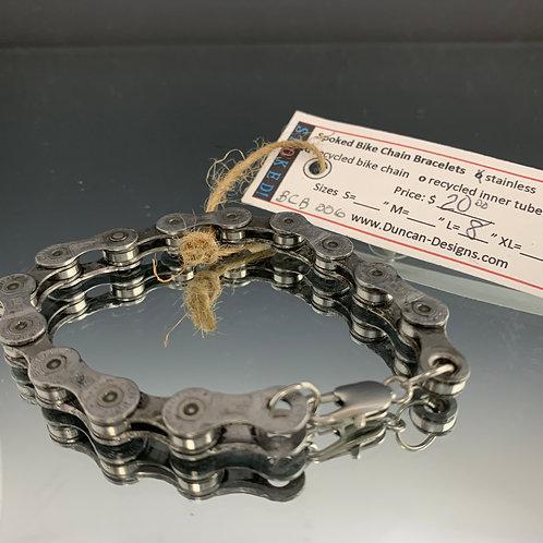 "Unisex 8"": Spoked Bike Chain Bracelet"