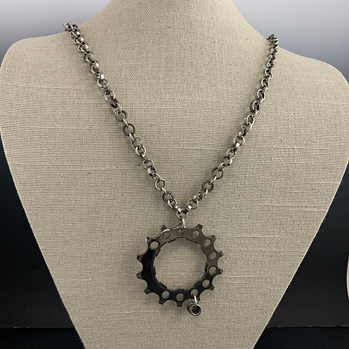 """26"""" Sterling & Chain Necklace: Spoked Necklace"""