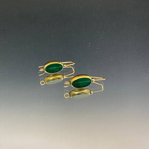 Emerald Green Fixed Wire: 22K Vintage Glass